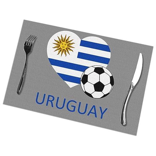 Love Uruguay - Manteles Individuales de fútbol para Mesa de ...