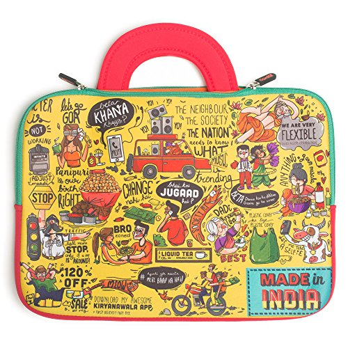 Chumbak Indian Collage Laptop Sleeve – 15inches