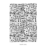 Custom printed Throw Blanket with Casino Decorations Collection The Dices Close Up Abstract Monochromic Chaotic Crowded Gaming Houses Super soft and Cozy Fleece Blanket
