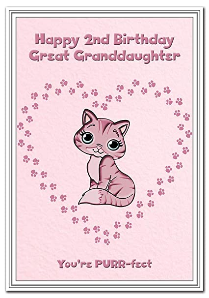 Tarjeta de 2º cumpleaños para niñas - Tarjeta de 2 años de ...