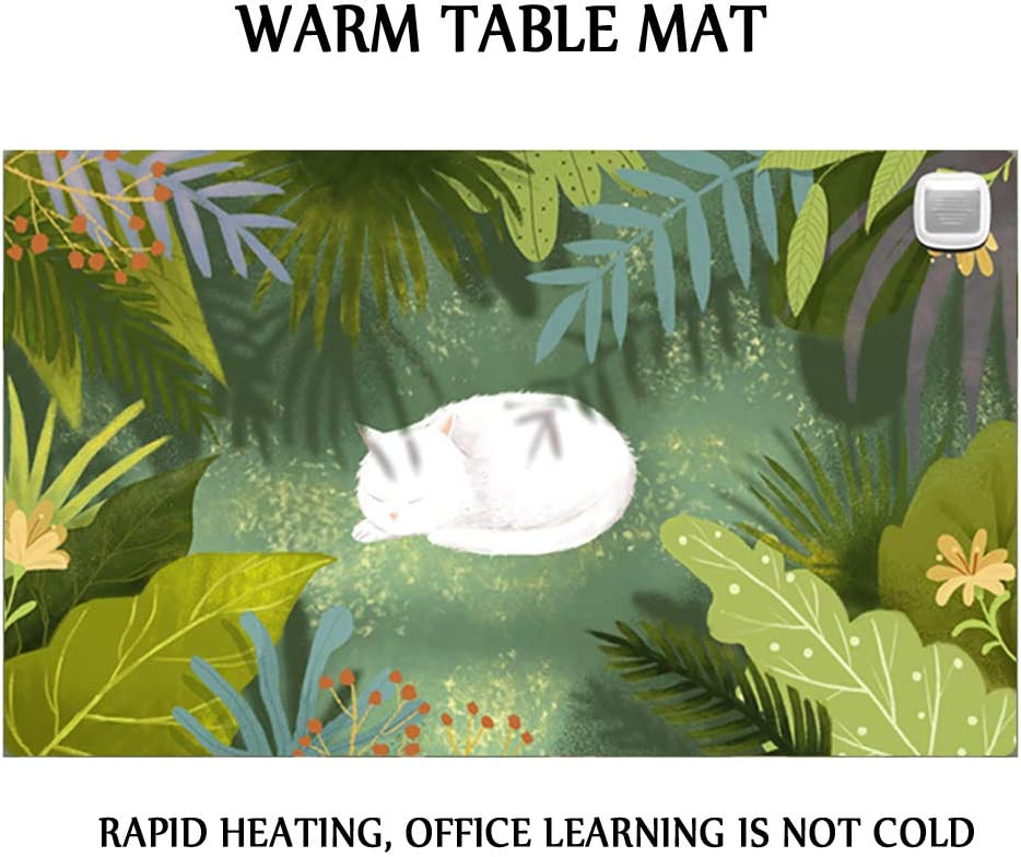 Heating Desk Pad 24v Safe Voltage Automatic Control Dual Use Desk Writing Mat for Office//Home 36cm*60cm Keep Warm Mouse Pad Foot Warmer Pad Desk Pad Writing Warm Hand Pad