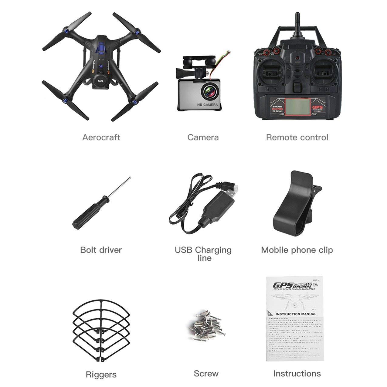 Redstrong X183S RC Drone con 1080P 5G Control de altitud sin cámara GPS sin Cabeza Quadrocopter