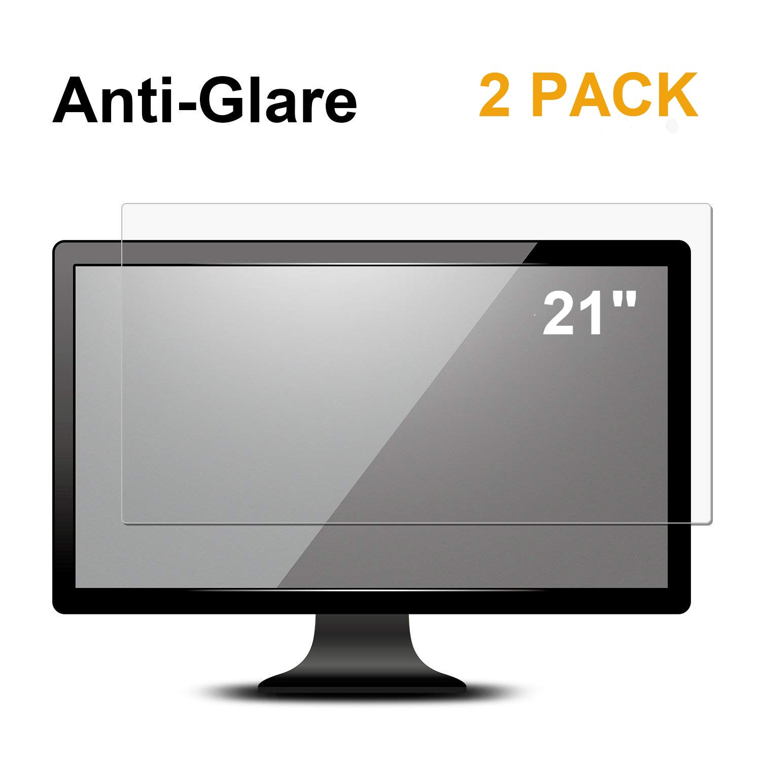 "[2 Pack] 21.5 inch Anti Glare (Matte) Screen Protector Compatible for 21.5"" All Brands of Widescreen Desktop with 16:9 Aspect Ratio Display Monitor [Not for a 16:10 Monitor]"
