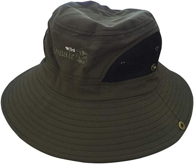 418fdf83ed1 Summer Women Bucket Hat Men Fisherman Hat Wide Large Brim Anti-UV Holiday  Beach Cap Fashion Mesh Sun Cap