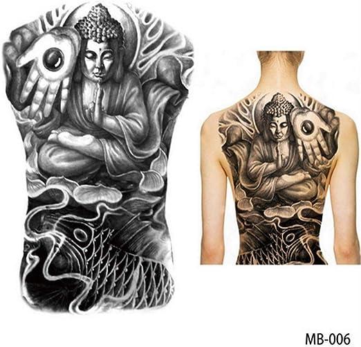 tzxdbh 2Pcs-Big Large Back Back Pecho del Tatuaje Grande Tatuaje ...