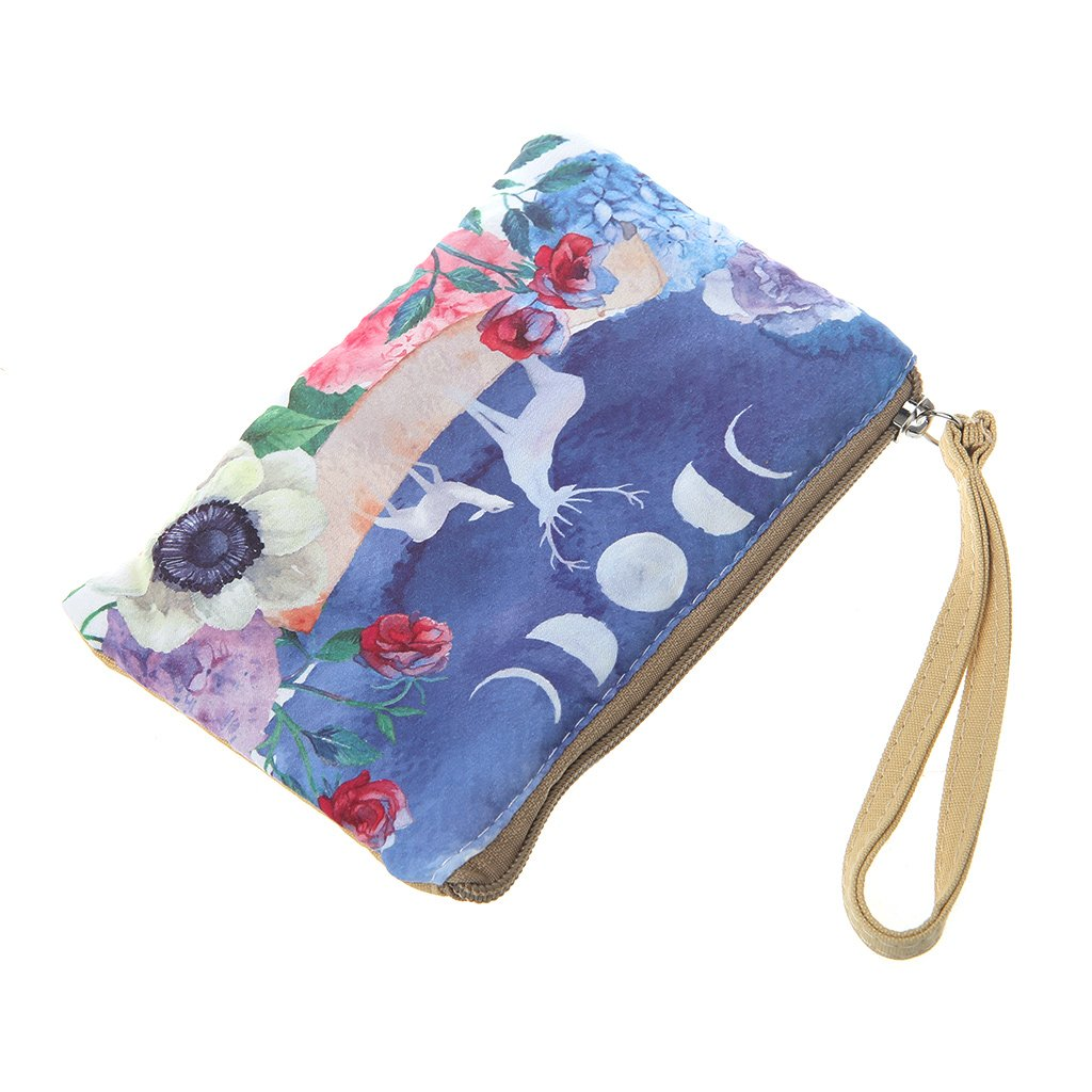 SimpleLif Women Canvas Cute Animal Printed Purse Wallet Coin Bag Pouch Case Handbag Phone Pouch