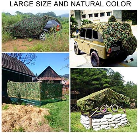 2x3m Red de Camuflaje Woodland Red de Camuflaje del ejército Verde 6m 8m 10m for Camping Ocultar Jardín Terraza Gazebo Balcón Pérgola Decoración Múltiples tamaños (Size : 4 * 10M)
