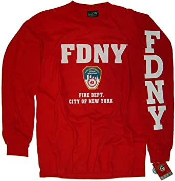 Large Officially Licensed FDNY Red Tee Shirt
