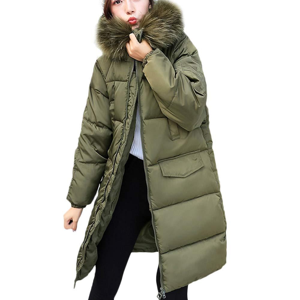 Winterjacke Damen Coat Kapuzenjacke Outwear Steppmantel