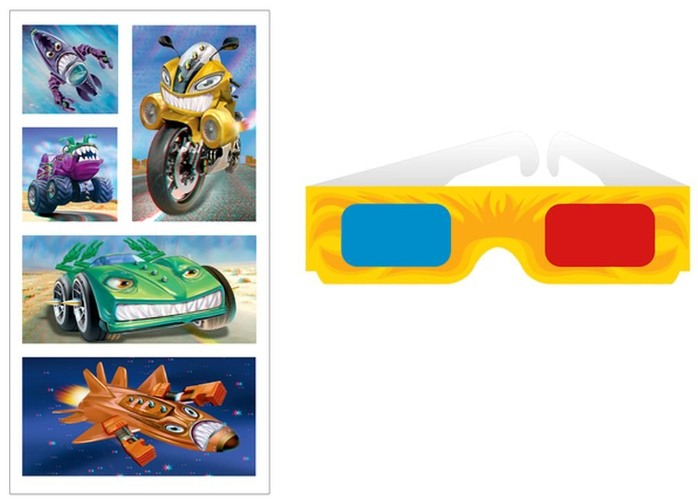 Peaceable Kingdom 3D Zoom Sticker Pack Mindware ST148