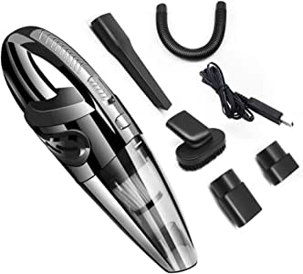 Handheld Vacuum Cordless,with Rechargeable Quick Charge Battery, Lightweight Mini Hand Vac Portable Hand Held Vacuum Cleaner Cordless for Home, Kitchen, Car Wet Dry Cleaning Pet Hair