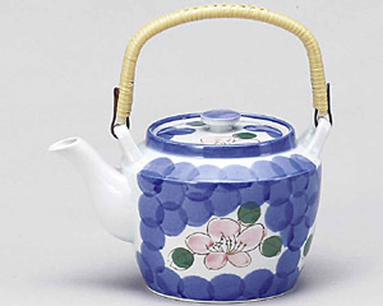 山茶花 1450cc 土瓶5点セット 白 磁器 B00RQ8UNCE