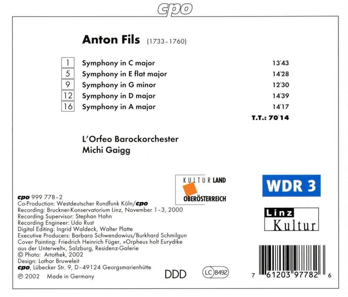 Anton Fils, Michi Gaigg, L'Orfeo Barockorchester - Fils ...