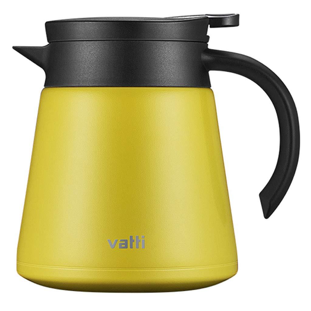 品質は非常に良い 304ステンレス鋼真空断熱コーヒーポットやかん、コーヒーミルクティーオートミールを飲むのに適した総本店 (容量 : 800ml, 色 : : イエロー 800ml, いえろ゜) (容量 B07MY3C3Z5, pipi:9360c545 --- a0267596.xsph.ru