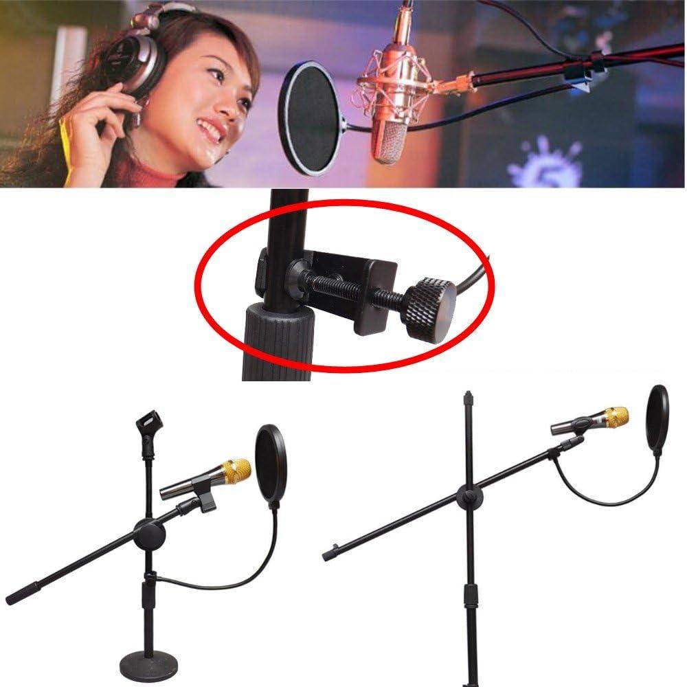 Samson JZK/® High quality microphone pop filter stand pop shield anti-pop screen 360/° swivel Rode Blue Snowball Logitech BTSKY fit any standard microphone etc Blue Yeti