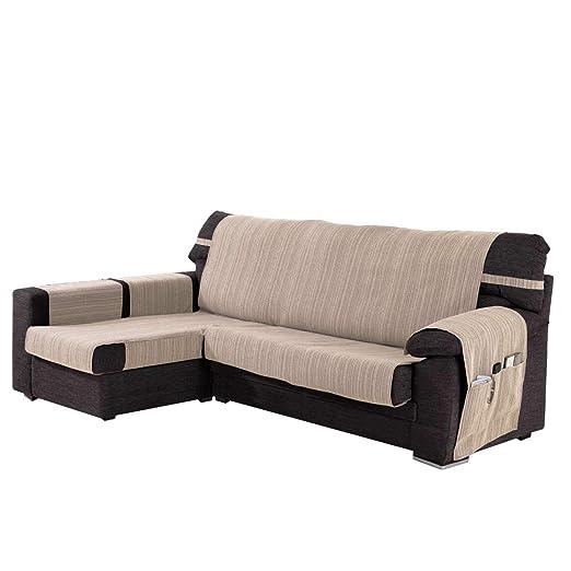 Funda Cubre Chaise Longue Modelo Darsena, Color Natural, Medida Brazo Izquierdo – 240cm (Mirándolo de Frente)