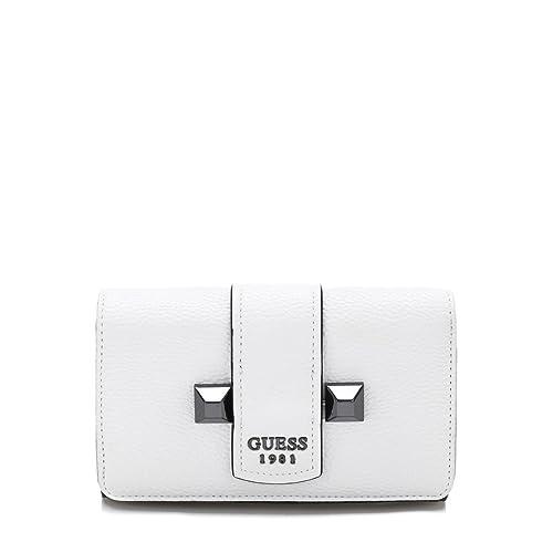 Guess - Cartera para mujer de poliuretano Mujer Blanco blanco talla única: Amazon.es: Zapatos y complementos