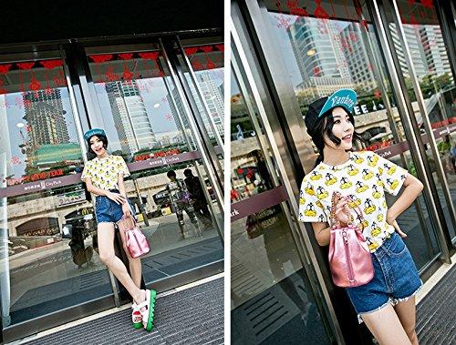 Primi Charming beauty retro Girls Sliver spalla secchio borsa accessori
