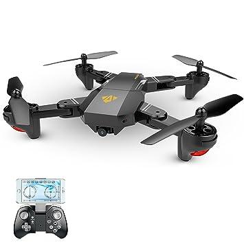 Visuo - Drón teledirigido plegable con cámara 720P HD de 2 MP FPV ...