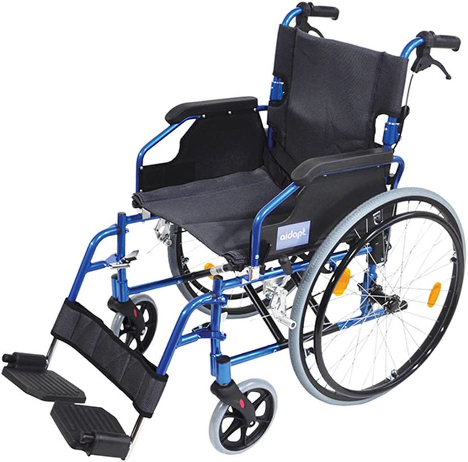 Aidapt VA165BLUE Deluxe Leichtgewichtiger Rollstuhl