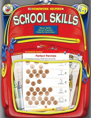 School Skills Homework Helper, Grades PreK to 1