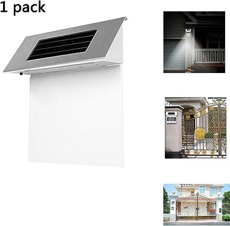 HEGUAN Lámpara de Placa de Puerta Solar, Acero Inoxidable LED Solar Número de casa Señal de dirección Placa de Puerta Casa Exterior Luces indicadoras Puerta de Placa Decorativa: Amazon.es: Deportes y aire