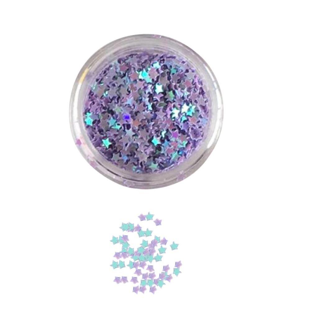 Kanzd Flake Chunky Glitter Pots Nail Face Eye Shadow Shimmer Eyeshadow Tattoo Festival Body Dance Party (L)