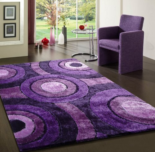 (Living Lavender Luxurious Shaggy Area Rug Hand Tufted ~ 5 x 7 hand made ON SALE!)