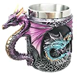 "This exotic mug is made of high quality resin, individually hand painted and polished. Color Tone May vary from pictures. It is 4.75"" tall, 5.5"" long and 3.5"" in diameter. Handwash only Because each piece is individually hand painted and polished, co..."