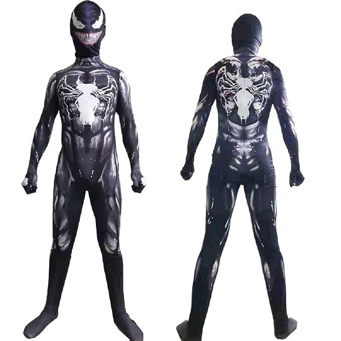Shihong-G Venom Body Halloween Cosplay Traje de Rendimiento ...
