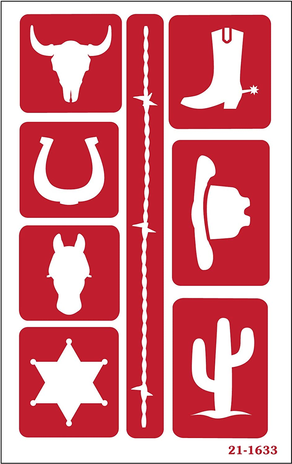 Armour Products 21-1633 Etch Over N Over Stencil Western