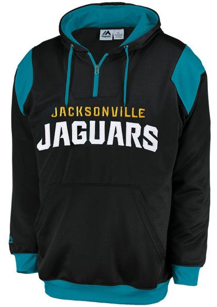 Jacksonville Jaguars NFLマジェスティックメンズSynthetic 1 / 4 Zip Hoodieブラックビッグトールサイズ XXXX-Large  B01BPITCS6