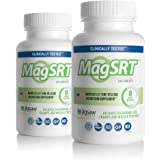 MagSRT - Jigsaw Health - Premium, Organic, Slow Release Magnesium Supplement - Active, Bioavailable Magnesium Malate Tablets with B-Vitamin Co-Factors, 240 Tablets (2-Pack)