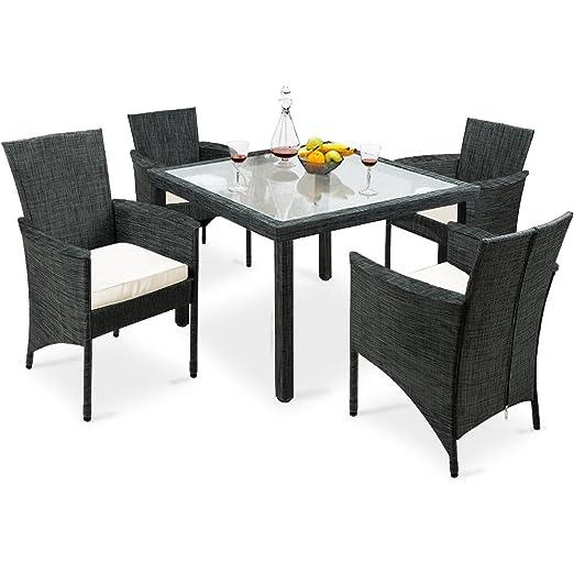SSITG Asiento Grupo 9 piezas sillas mesa silla Muebles de Jardín ...