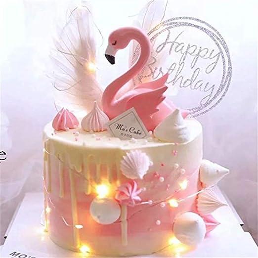 Decoración para tarta de chasiroma con diseño de flamenco ...