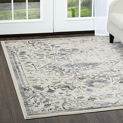 Home Dynamix Christian Siriano New York Jersey Denali Transitional Damask Area Rug 7 9 x10 2 Ivory-Gray