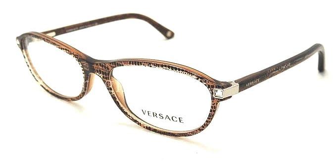 8757cd849532 Versace VE3165B - 991 Lizard Brown Rx Eyeglass Frame 51mm: Amazon.ca ...
