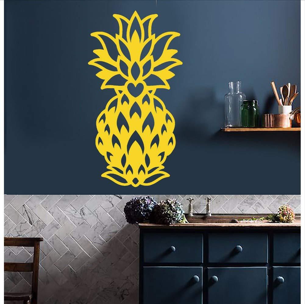 Wmbz Vinilo Tatuajes de Pared Abstracto Piña Comida Fruta Exótica ...