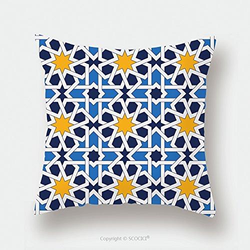 Custom Satin Pillowcase Protector Islamic Geometric Ornaments Based On Traditional Arabic Art Oriental Seamless Pattern Muslim 518679283 Pillow Case Covers Decorative by chaoran