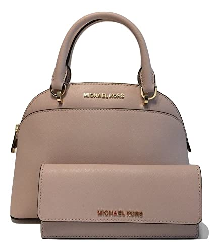 85b1062f469a MICHAEL Michael Kors Emmy SM Dome Satchel bundle with Michael Kors Jet Set  Travel Flat Wallet