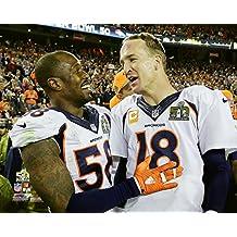 Von Miller and Peyton Manning - Super Bowl 50 NFL Photo Poster (20x24)