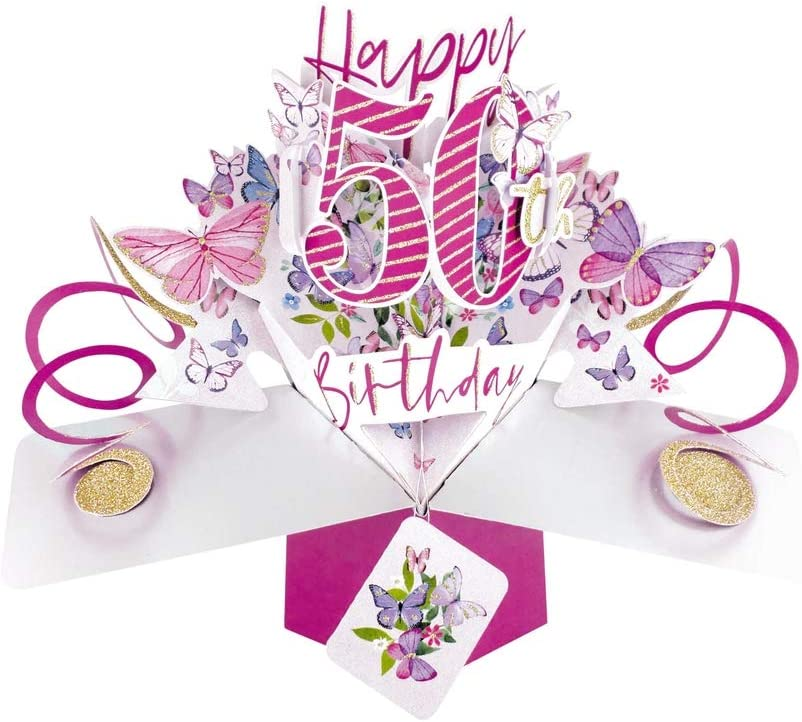 Second Nature 40th Birthday Pop Up Card