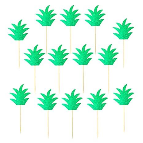 48-Pack Cupcake Toppers For Hawaiian Luau Summer Flamingo birthday Parties Ca...