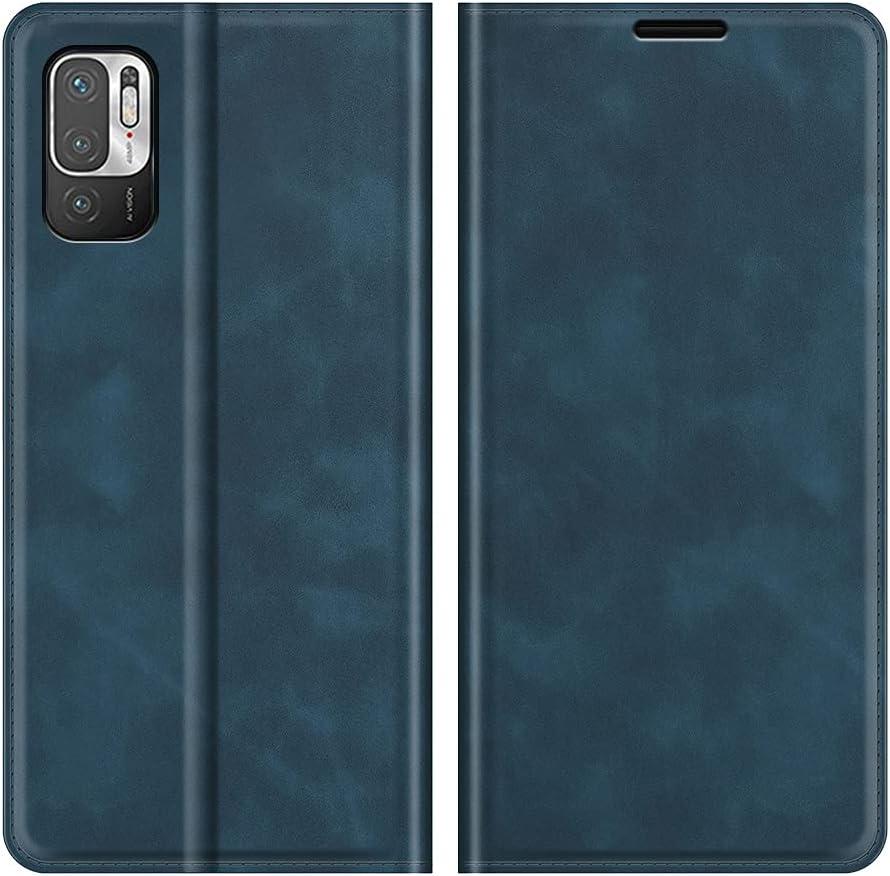 Fertuo Funda para Poco M3 Pro/Xiaomi Redmi Note 10 5G, Funda Libro con Tapa de Cuero Piel Flip Case Cover con Cierre Magnetica, Ranuras para Tarjetas [Interna TPU] Carcasa para Poco M3 Pro, Azul