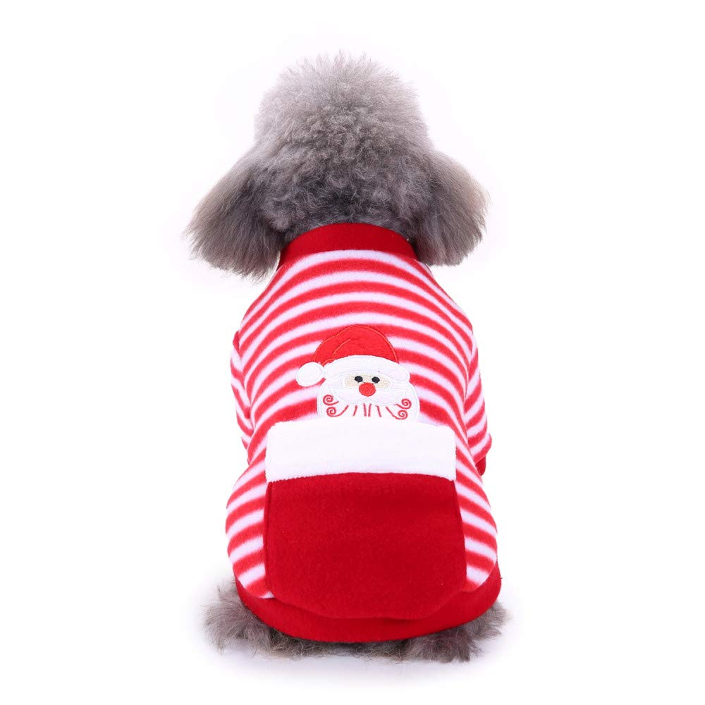 abcnature Christmas Puppy Striped Sweater Fashion Comfortable Pet Clothes Dog Cat Festival Dress Winter Warm Cute