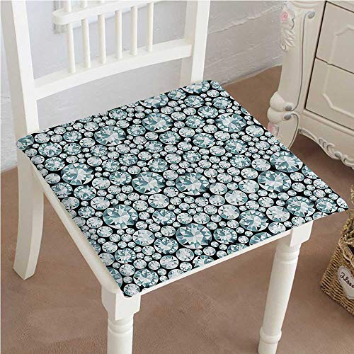 Mikihome Dining Chair Pad Cushion Fifty Shades of Group of Blowing Silver s Treasure at Black Blue Fashions Indoor/Outdoor Bistro Chair Cushion 30''x30''x2pcs by Mikihome