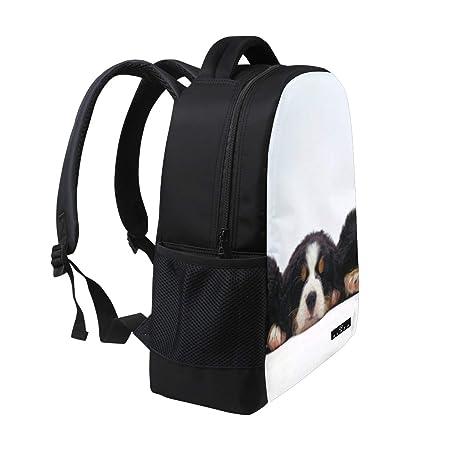 5653d47117c8 Amazon.com: Backpack Cute Puppies Bernese Mountain Dog Mens Laptop ...