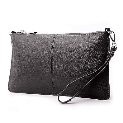a21b2c3dd Lecxci Leather Crossbody Purses Clutch Phone Wallets with Card Slots for  Women (Dark Coffee Leather