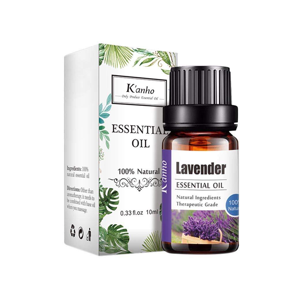 MineMine Huiles Essentielles 10 ml Huiles essentielles pour aromathérapie Pures et Naturelles avec Lavande, Orange Douce, Arbre à Thé, Eucalyptus, Citronnelle Cannelle (Lavande)
