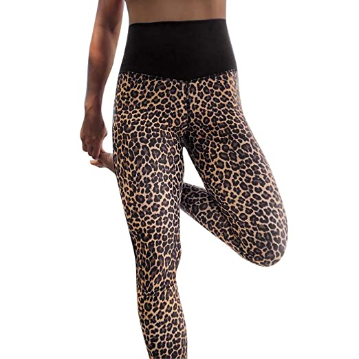 b25d883ed HTDBKDBK Yoga Pants for Women Leopard Print Fashion Workout Leggings  Fitness Sports Gym Running Yoga Athletic